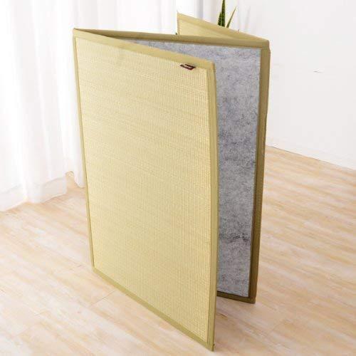 EMOOR Tri-fold Tatami Mattress (Igusa Woven Straw mat), Queen-Long(63x83), Made in Japan