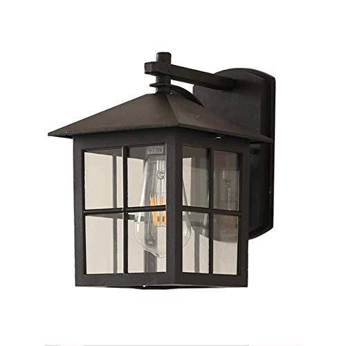 Moderne buitenwandlampen lamp design lamp zwarte lantaarn metaal glazen wand kroonluchter rustieke stijl ingang gang tuin decoratieve verlichting garage balkon buitenverlichting IP44 E27 24 * 27 cm
