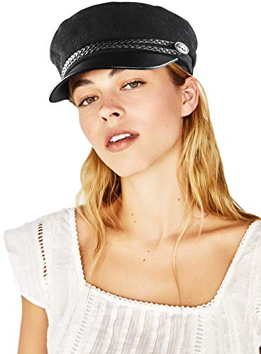 WETOO Women Newsboy Hat Cap for Ladies Visor Beret Hat Black