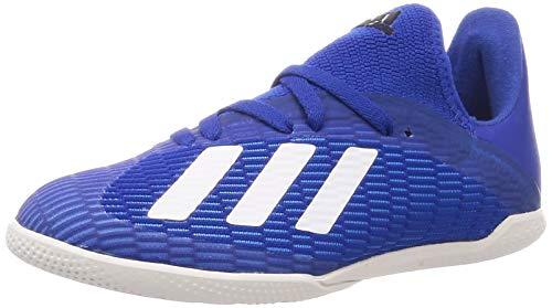 adidas X 19.3 in J, Chaussures de Sport Unisexe-Enfant, Azurea/FTW Bla/Negbás, 35 EU