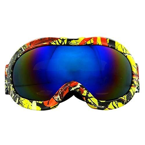 Lororenory Skibril voor kinderen, dubbellaags skibril, sneeuw, skiën en snowboardbrillen
