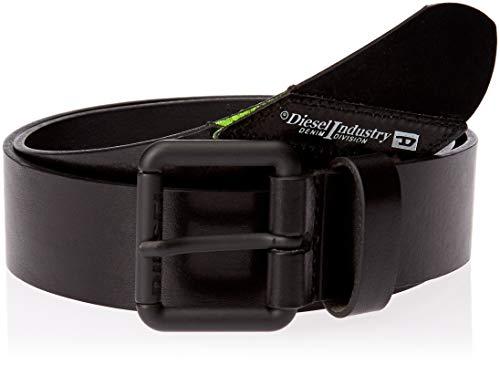 Diesel Herren B-LINEFLUO-belt Gürtel, schwarz, 95 cm