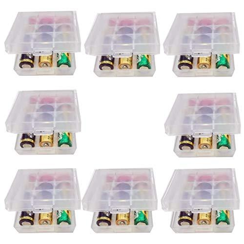 GTIWUNG 8 Stück Batteriebox aus Kunststoff, Transportbox für Akkus/Batterien, Aufbewahrungsbox für Batterien und Akkus - Akkubox für 18650 14500 AA und AAA