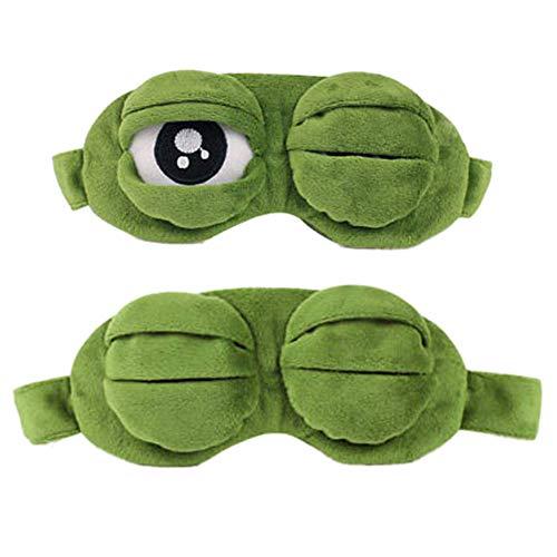 Nanxin Antifaz para Dormir de Ojo Gafas de Sueño Rana Divertido Lindo Contorneado Rana Animal 3D Sueño