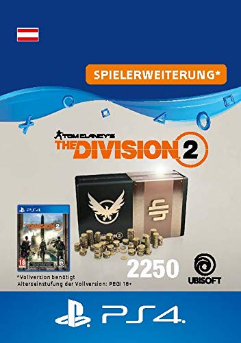 Tom Clancy's The Division 2 – 2250-Premium-Credits-Paket - 2250 Credits DLC | PS4 Download Code - österreichisches Konto