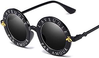 27e076fb21 HANHANSUNNYTYJ Gafas De Sol Moda Unisex Ronda Retro Gafas De Sol Mujer Gafas  Vintage Círculo Clásico