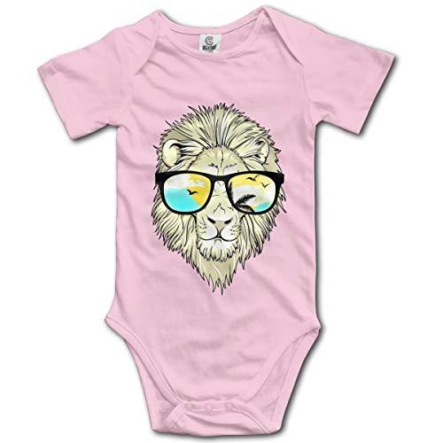 Lion avec Lunettes de Soleil Nouveau-né Fille garçon Enfant Barboteuse bébé Combinaison pour Enfant en Bas âge pour Enfant(2T,Rose)