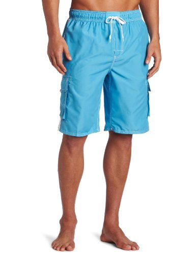 Kanu Surf Men's Barracuda Swim Trunk, Aqua, Medium