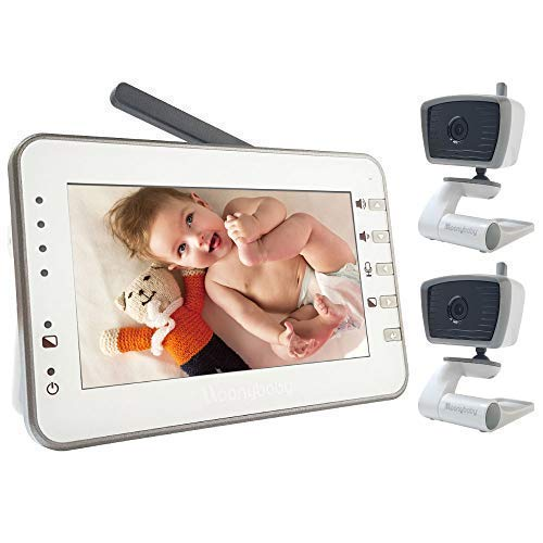 Video Baby Monitor with Two Cameras, 4.3 Inches Large Screen by Moonybaby,...
