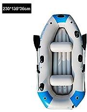 Kayak Inflable, Juego de Bote de Goma Engrosado para 2/3/4 Personas, Bote Inflable de PVC para Rafting, Pesca, Bote, pontón con remos y Bomba de Aire para Deportes acuáticos