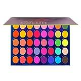 40 colori ombretto tavolozza trucco pigmentato glitter arcobaleno colorato luccichio opaco setoso trucco per gli occhi cosmetico