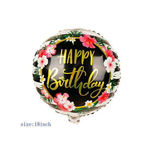 Vorschlag Party Dekorationen 1pc 18inch Runde Folie Luftballons Transparent Alles Gute zum Geburtstag Helium Balls Geburtstag Party Dekorationen Kinder Air Globos Baby Shower-18R027B18-,