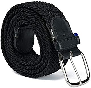 Nylon Waist Belt with Metal Buckle, Black