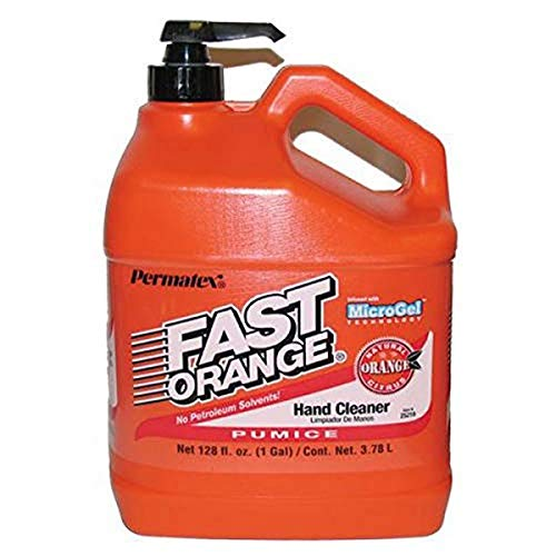 Permatex 25219 Fast Orange Pumice Lotion Hand Cleaner with Pump, 128 Fluid Ounce