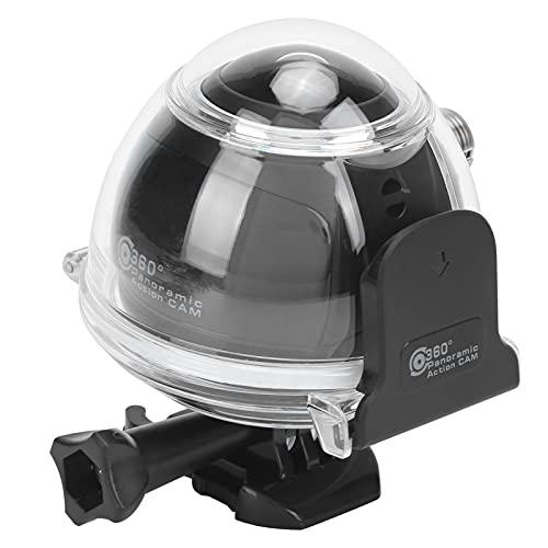 Goshyda Telecamera Panoramica a 360°, Telecamera Panoramica da Esterno a 360° Mini Action Cam Wireless con Guscio Impermeabile di Livello Professionale, per Riprese Subacquee