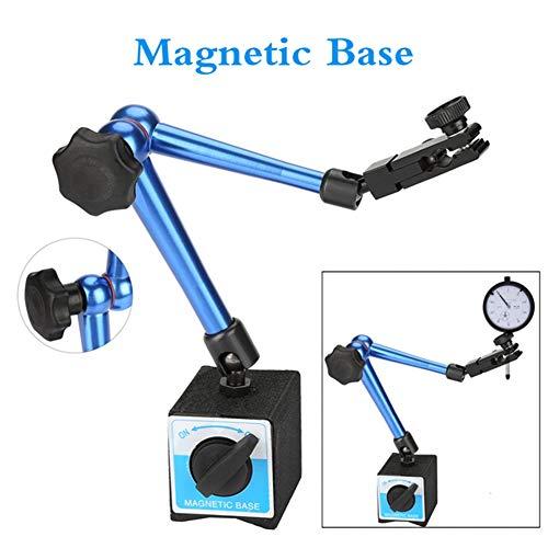 Magnetfuß messuhr,Flexibler Präzisions Machinery Universal Magnetic Tisch Sitzzifferblatt Basis Magnetfußhalter für Messuhren,Magnetkraft:40kg