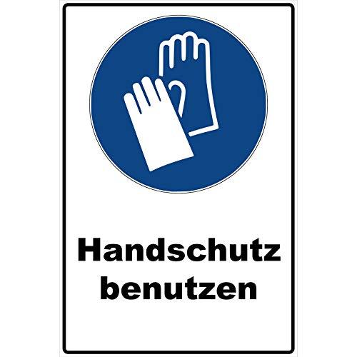 Schild Handschutz benutzen Schild Gebotszeichen blau 30 x 20 x 0,3 cm Hartschaumplatte Handschuhe anziehen benutzen Schild überkleben, Handschutz benutzen Gebotszeichen Warnzeichen anziehen M009