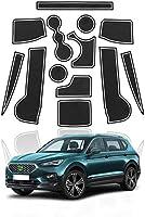 車のドア溝マット、SEAT Tarraco 20192020滑り止めドアゲートスロットパッド用自動車インテリアスタイリング13個ドア溝パッド-赤