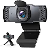 Webcam with Microphone for Desktop, 1080P HD Computer Camera...