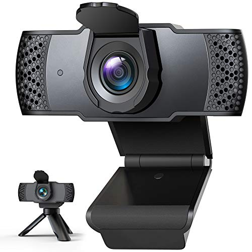 2020年最新型」IVSO Webカメラ ウェブカメラ フルHD 1080P 三脚付き 100°広角 マイク内蔵 自動光補正 高画質パソコンカメラ USBカメラ PCカメラ 在宅勤務 動画配信 ゲーム実況 ビデオ会議 ネット授業カメラ (ブラック)