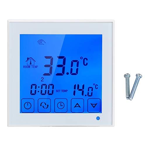 Atyhao Termostato Inteligente, Pantalla LCD Controlador de Temperatura de calefacción eléctrica Termostato de calefacción de Suelo doméstico Controlador de Temperatura Termorregulador 200~240V