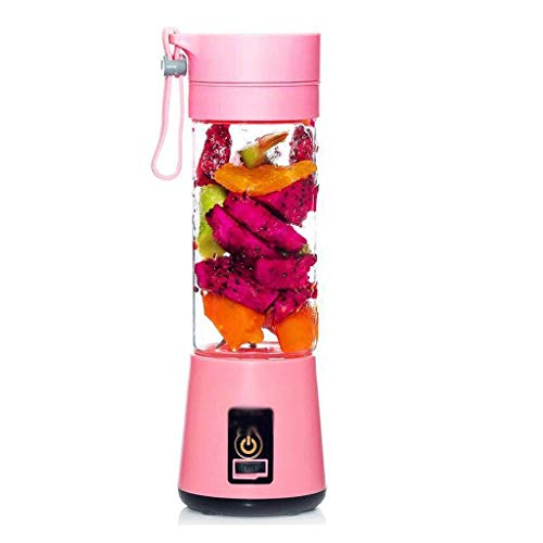 XLEVE Portable Blender, Personal Smoothie Mini Mixer Juicer Cup,Fruit Mixing Machine, Recharging, Detachable, for Office,Sports (Color : B)
