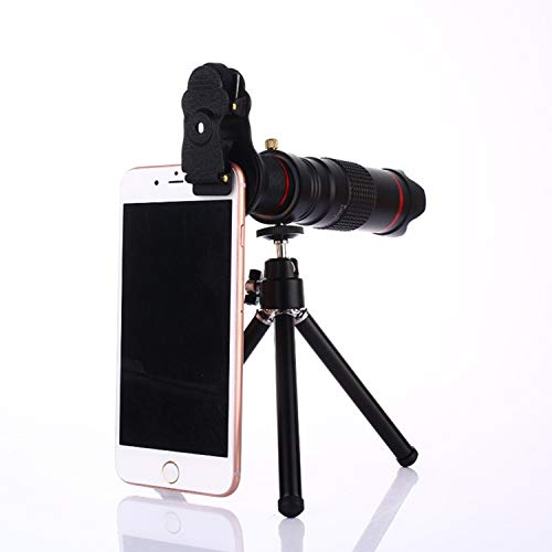 Best Price Universal Clip Holder 22X 4K HD Fixed Focus Telephoto Telescope Mobile Phone Lense with C...