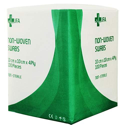 JFA Medical Premium Non-Woven Gauze Swabs 10cm x 10cm - Pack of 100