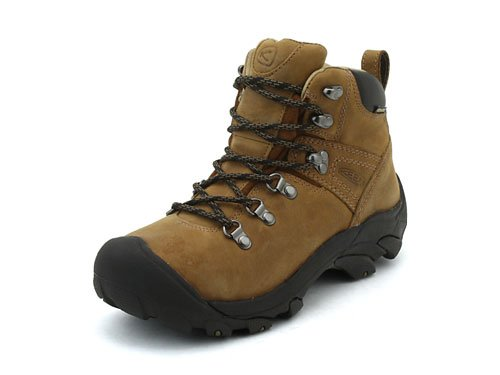KEEN Women's Pyrenees Mid Height Waterproof Leather Hiking Boot, Syrup/Leather, 9.5 M (Medium) US