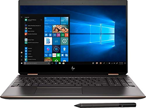 "2019 HP Spectre x360 15.6"" 4K Ultra HD Touchscreen 2-in-1 Laptop Computer: 10th Gen Intel Quad-Core i7 10510U up to 4.9GHz, 16GB DDR4 RAM, 512GB PCIe SSD + 32GB Optane, GeForce MX250 2GB, Windows 10"