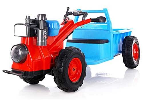 ZHBD 12V 4.5AH Ride En Tractor, Tractor Eléctrico para Niños, Faro De...