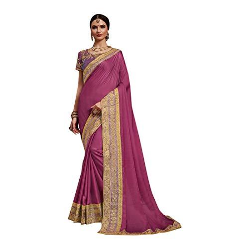 Indian Satin Silk Die Seide Saree Sari mit Bluse Stück traditionelle Designer New Bollywood ethnische Kleidung Kleid für Frauen Party Wear Ceremonia Trendy Indian Women Clothing Ethnic 8275