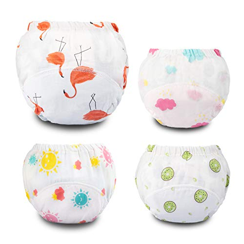 Potty Training Pants Muslin Toddler Training Underwear for Baby Girls-4T