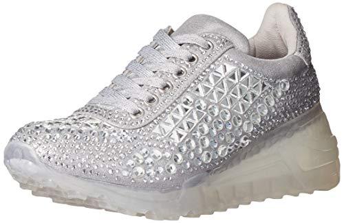 Steve Madden Women's Carissa Sneaker, Rhinestone, 7 M US