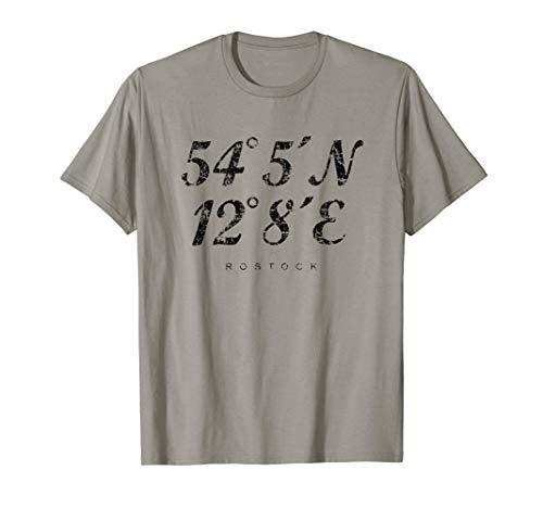 Rostocker Koordinaten (Vintage Schwarz) Rostock T-Shirt