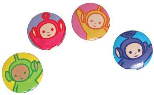 Tomy - Peluches et Doudous - Pochette 4 badges Teletubbies