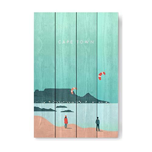 artboxONE Holzbild 60x40 cm Reise/Afrika Kapstadt von Künstler Katinka Reinke