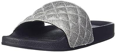 Carlton London Women's Grey Flat Sandal-3 UK (36 EU) (CLL-6197)
