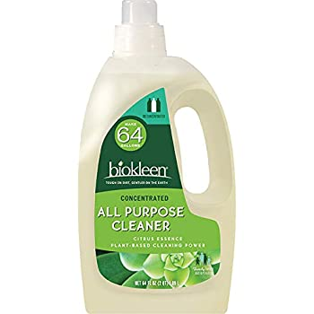 Biokleen Natural All Purpose Cleaner - Makes 64 Gallons - Super Concentrated, Eco-Friendly, Non-Toxic, Plant-Based, No Artificial Fragrance, Colors or Preservatives, 64 Ounces