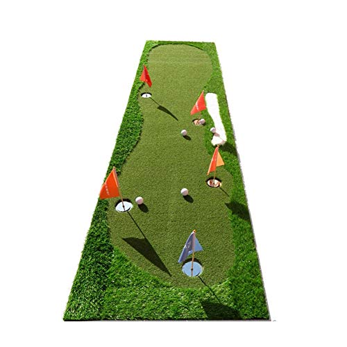 Sale!! ChenCheng Golf Putter Practice mat with Scale and Sand Pit Outdoor Sport (Size : Belt Slope)