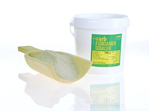 -Carb Flohsamenschalenmehl fein gemahlen 99% Reinheit (750 g)