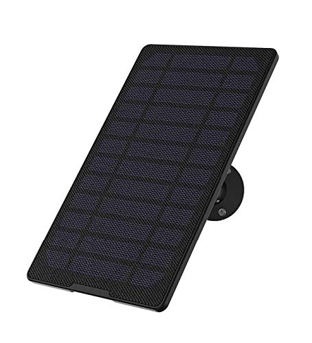 ieGeek G2 Solar Panel for Wireless WiFi Camera, Waterproof Solar Panel with 13ft Charging Cable, Constant Power Supply for All Brands Security Cameras, Outdoor/Indoor Use (Camera not Included)