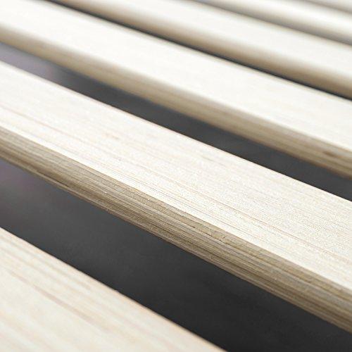 Zinus Lottie Upholstered Platform Grey Bed Frame | Model | King