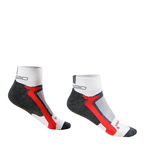 SPAIO Chaussettes Unisexe Mutlisport Coolmax Active, Blanc/Rouge, 41-43