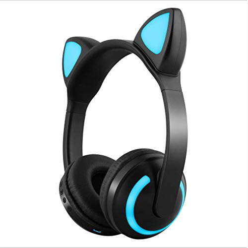 SHWEJ Bluetooth hoofdtelefoon Stereo Cat Flash Light spel 7 LED-lampen in kleur