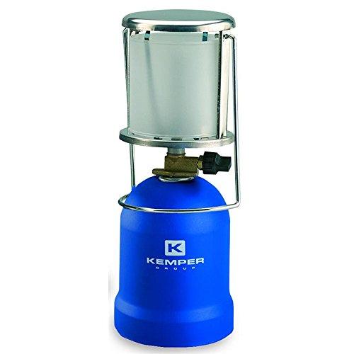 Kemper Camping Gaslampe KE 2013 mit Piezo Zündung in blau