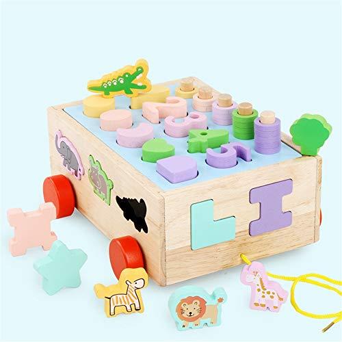 Jouets pour tout-petits Tri Activité Cube Jouets éducatifs for bébé forme en bois Sorter for 3+ ans garçon et fille cadeau Tout-petits Cadeau de jeu éducatif ( Color : Shape , Size : Free size )