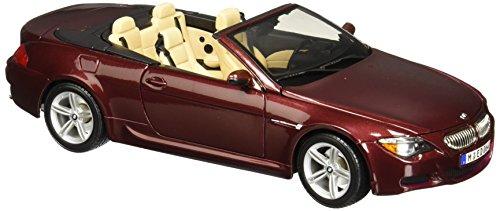 Preisvergleich Produktbild Maisto BMW M6 Cabrio: Modellauto mit Federung,  Maßstab 1:18,  Türen und Motorhaube beweglich,  Fertigmodell,  lenkbar,  24 cm