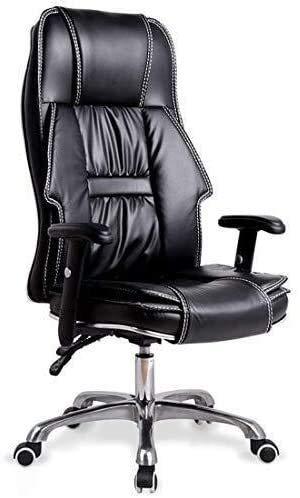 Fhw Silla de escritorio de reclinación Ejecutivo alta Back Office, Ejecutivo Ordenador de imitación de cuero silla giratoria con altura ajustable amortiguadores reclinable Silla de oficina Sillas de o