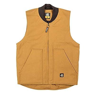 Berne Men's Duck Workmans Vest, 5X-Large Regular, Brown Duck from Berne Apparel Company